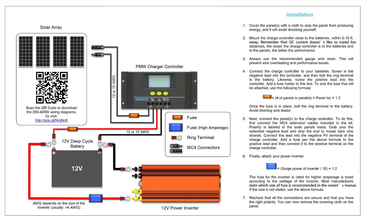 solar power to fuse box wiring diagram Wiring-Diagram RV Solar System