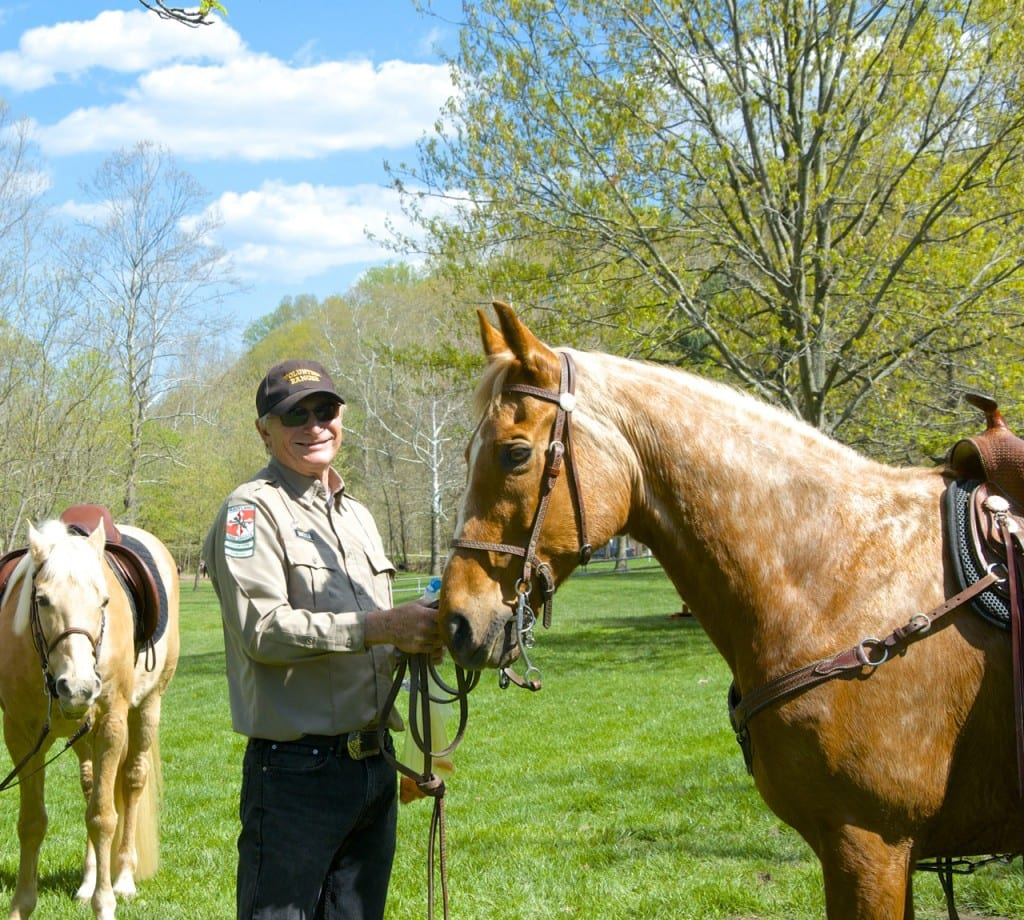 Horses and blue skies on Family Fun Day in the Avalon Area of Patapsco State Park: Glynn Wilson