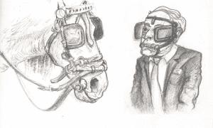 blinder horse and human 300x180 - blinder - horse and human