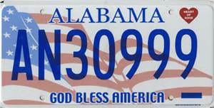 Land of the free car tags
