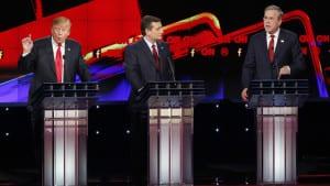 Donald Trump, Ted Cruz, Jeb Bush