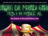 Cirque du Mardi Gras Comes to Mobile Art Space