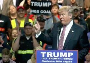 Trump digs coalCharlestonWV