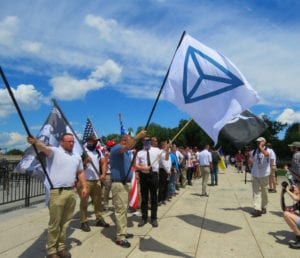 Neo-Nazis and white nationalists rally at the Lincoln Memorial Sunday, June 25, 2017: Glynn Wilson