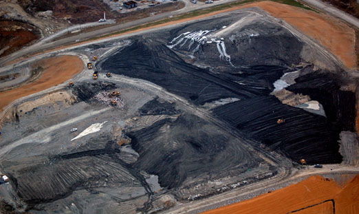 coalash mountain2b - TVA Coal Ash Disaster Revisited: Is it Time for EPA to Regulate the Toxic Sludge as Hazardous Waste?